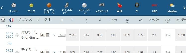 1XBET スポーツベッティング 評判