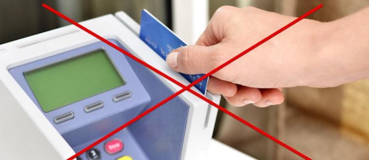 クレジットカード-出金不可