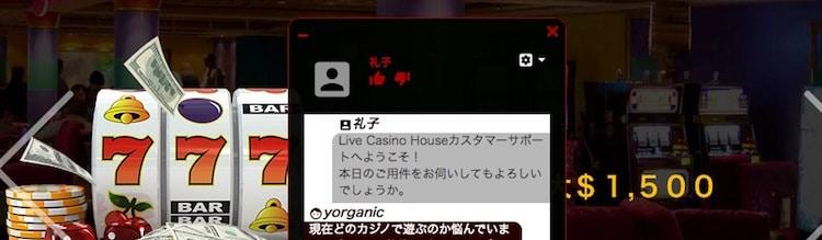 ライブカジノハウス-サポート