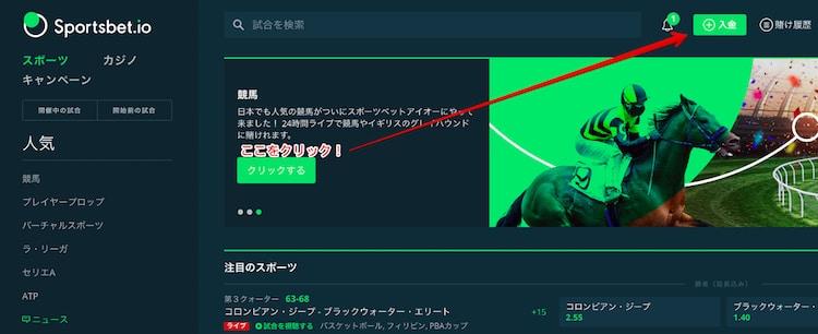 Sportsbet.io-入金方法