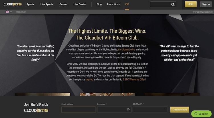 cloudbet-vipプログラム