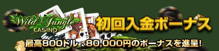 ワイルドジャングルカジノ - 初回入金ボーナス