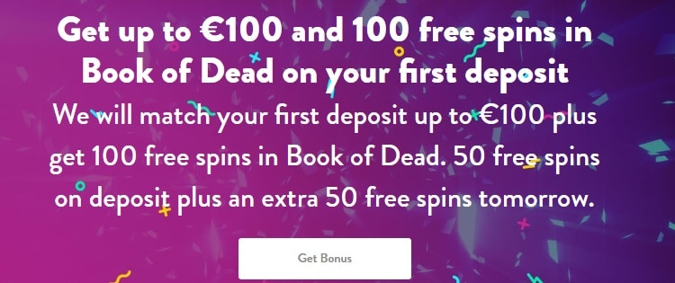 Dunder casinoの最高€100の100%入金ボーナス&100フリースピンをゲットしよう!
