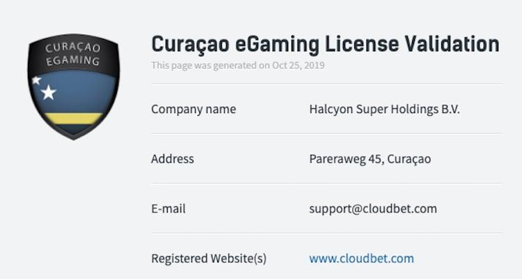cloudbet-カジノ-ライセンス