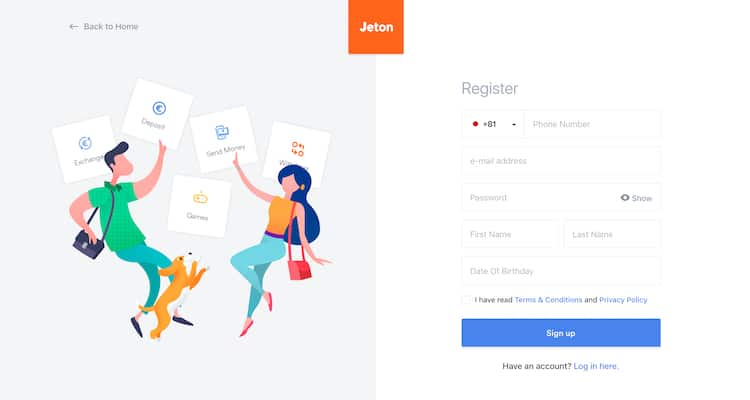 Jeton-登録