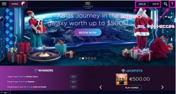 Genesis Casino - トップ操作