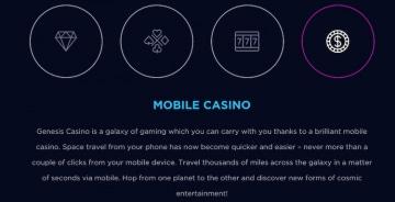 Genesis Casino - モバイル
