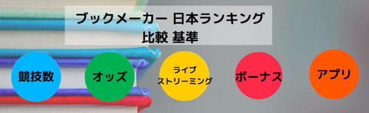 ブックメーカー−日本語ランキング-比較基準