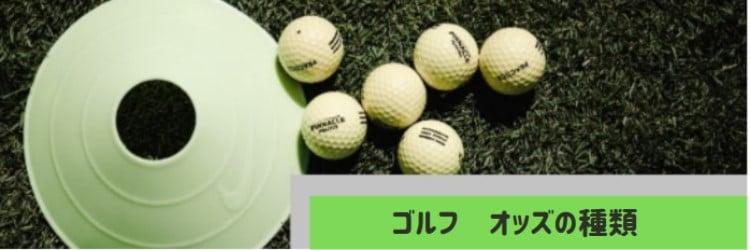 ゴルフ - オッズの種類
