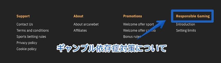 arcanebet-ギャンブル依存症対策