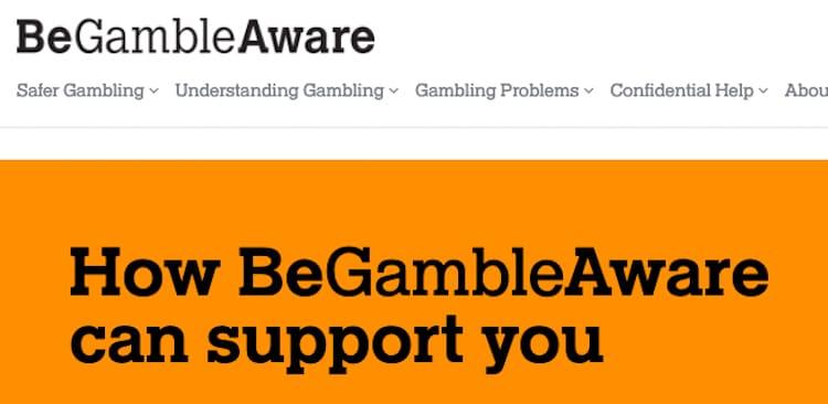 BeGambleAware-ギャンブル依存対策