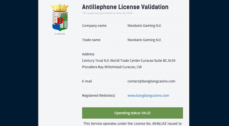 bangbang-License
