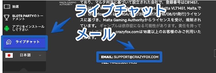 クレイジーフォックス-サポート